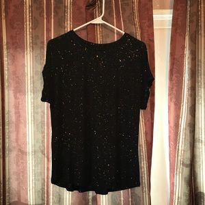 Black And Gold Glitter T-Shirt
